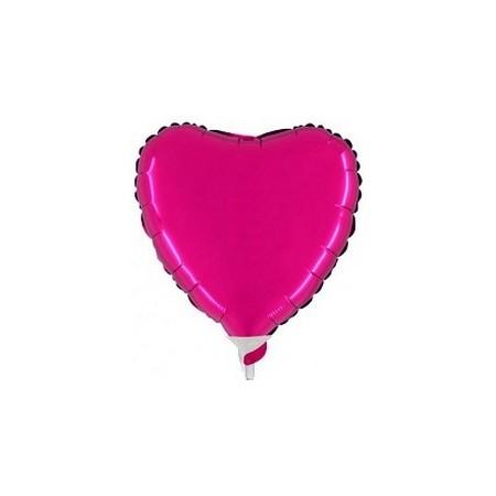 Palloncino Mylar Mini Shape 23 cm. Cuore Fucsia