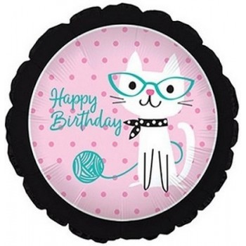 Palloncino Mylar 45 cm. R - Purrfect Party