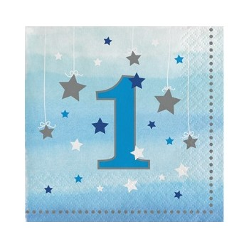 Primo Compleanno Bimbo One Little Star Boy - Tovagliolo 25x25 cm. - 16 pz.