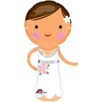 Palloncino Mylar Super Shape 101 cm. Lovely Bride