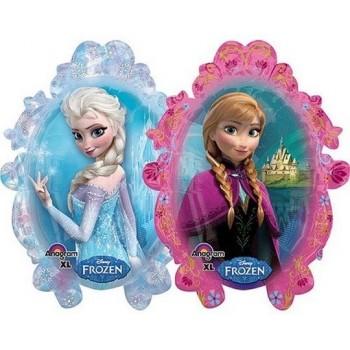 Palloncino Mylar Super Shape 78 cm. Anna and Elsa Frozen