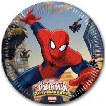 Coordinato Spider-Man - Piatto Carta 20 cm. - 8 pz.