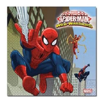 Coordinato Spider-Man - Tovagliolo 33x33 cm. - 20 pz.