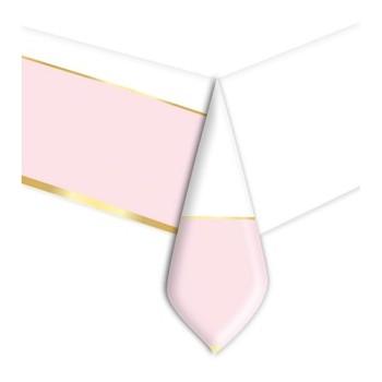 Coordinato - Tovaglia Plastica Chic Rosa 140 x 270 cm.