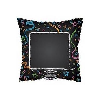 Palloncino Mylar Mini Shape 22 cm. Chalk Your Message! Chalkboard Confetti Border