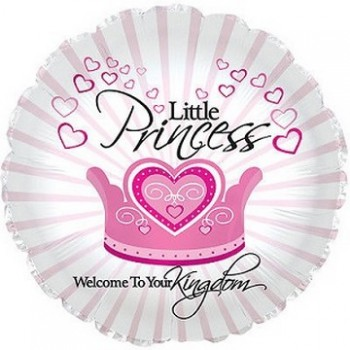 Palloncino Mylar 45 cm. Girl - Welcome Little Princess