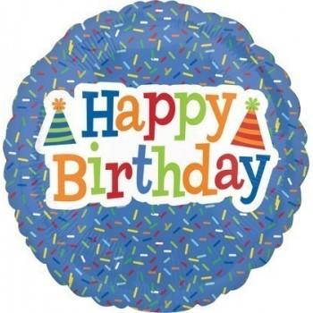 Palloncino Mylar 45 cm. R - Birthday Bright Sprinkles