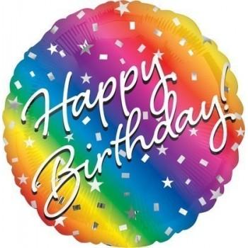 Palloncino Mylar 45 cm. R - Ombre Happy Birthday