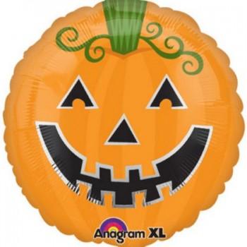 Palloncino Mylar 45 cm. Smiley Pumpkin Jack-o-Lantern