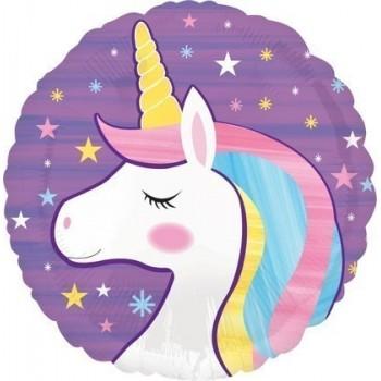 Palloncino Mylar 45 cm. Unicorn Fun