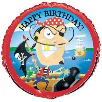 Palloncino Mylar 45 cm. Gold-Tooth Pirate Birthday