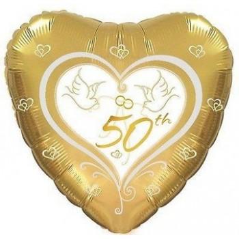 Palloncino Mylar 45 cm. 50° Wedding Anniversary
