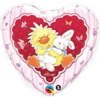 Palloncino Mylar 45 cm. Witzy & Lulla In Love