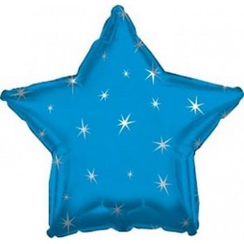 Palloncino Mylar 45 cm. Stella Sparkle Blu