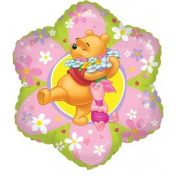 Palloncino Mylar 45 cm. Winnie the Pooh Flowers