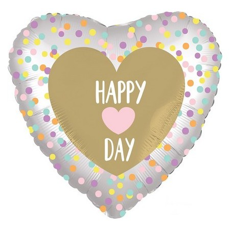 Palloncino Mylar 45 cm. C - Satin Infused Heart Day