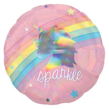 Palloncino Mylar 45 cm. Holographic Magical Rainbow
