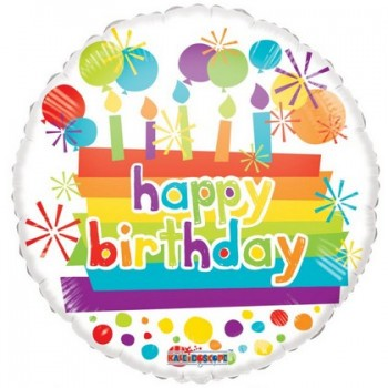 Palloncino Mylar 45 cm. R - Happy Birthday Candles