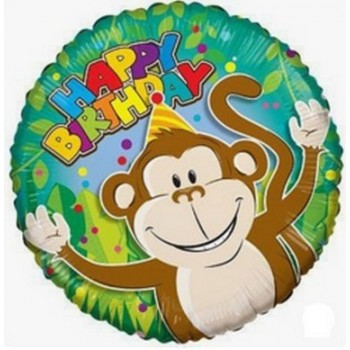 Palloncino Mylar 45 cm. R - Monkey Birthday