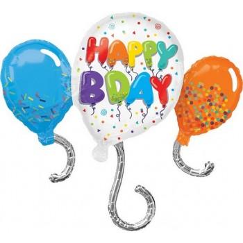 Palloncino Mylar Super Shape 86 cm. Birthday Celebration
