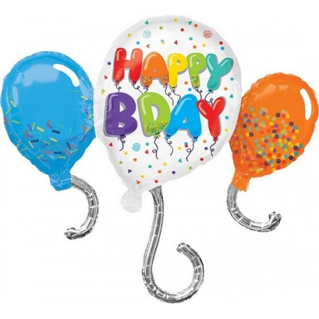 Palloncino Mylar Super Shape 86 cm. Birthday Celebration