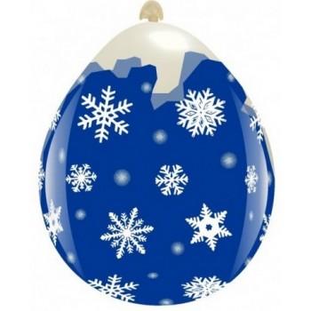 Palloncino per Confezione Regalo 45 cm. Fiocchi di Neve