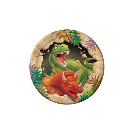 Coordinato Dinosaur - Piatto Carta 18 cm. - 8 pz.