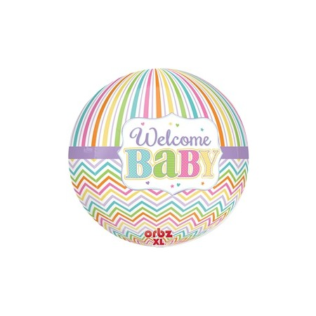 Palloncino Mylar Super Shape 40 cm. Baby Bright Orbz XL