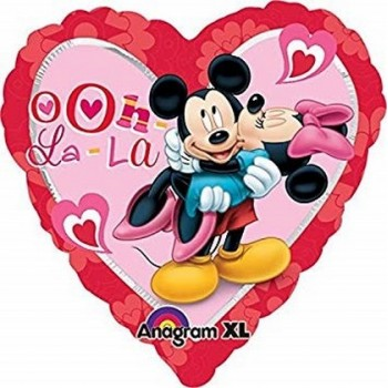 Palloncino Mylar 45 cm. Minnie & Mickey Mouse Heart
