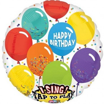 Palloncino Mylar Musicale 71 cm. Happy Birthday Balloons
