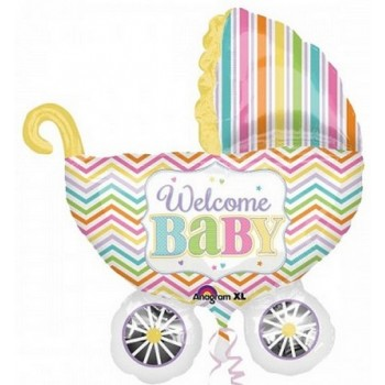 Palloncino Mylar Super Shape 78 cm. Baby Brights Carriage