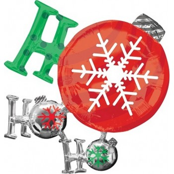 Palloncino Mylar Super Shape 71 cm. Ho Ho Ho Ornament