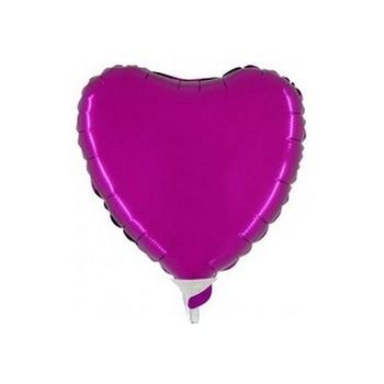 Palloncino Mylar Mini Shape 23 cm. Cuore Viola