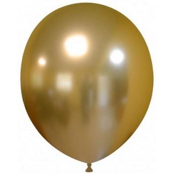 Palloncino in Lattice Rotondo 30 cm. Chrome Gold