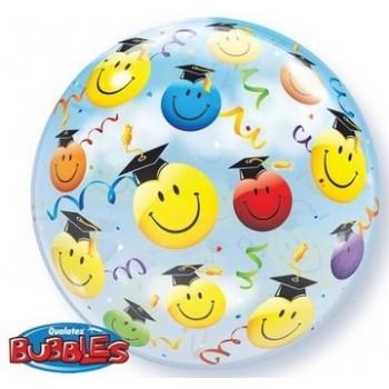 Palloncino Bubble 56 cm. Grad Smile Faces