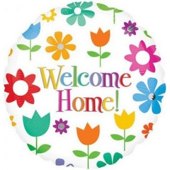 Palloncino Mylar 45 cm. Welcome Home Flowers