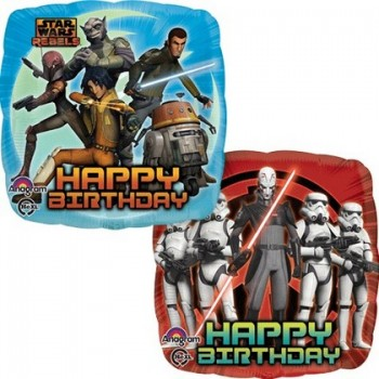 Palloncino Mylar 45 cm. Star Wars Rebels Birthday