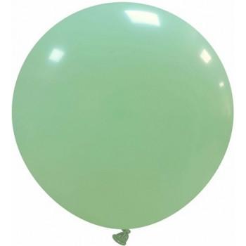 Palloncino in Lattice Rotondo 80 cm. Verde Macaron - Round