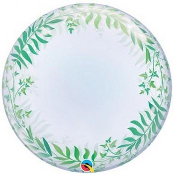 Palloncino Bubble 61 cm. Foglia Verde