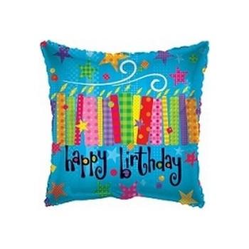 Palloncino Mylar Mini Shape 22 cm. Happy Birthday Candles