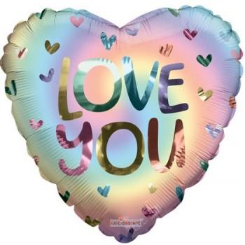 Palloncino Mylar 45 cm. Love You Swirl