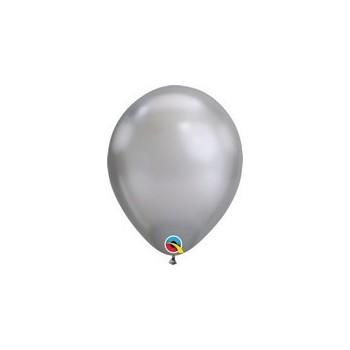 Palloncino in Lattice Rotondo 17 cm. Chrome Silver
