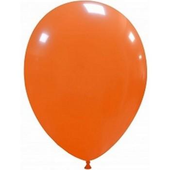 Palloncino in Lattice Rotondo 30 cm. Arancione