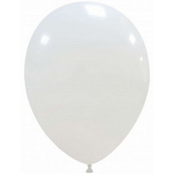 Palloncino in Lattice Rotondo 30 cm. Bianco