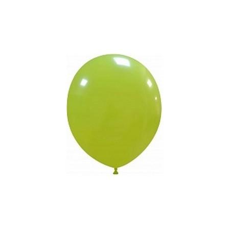 Palloncino in Lattice Rotondo 12,5 cm. Verde Lime