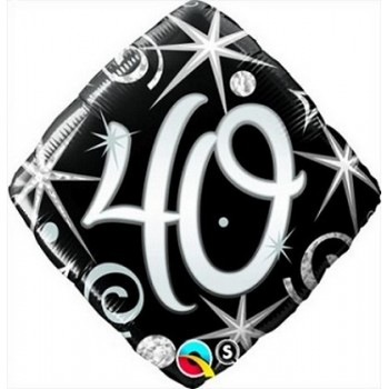 Palloncino Mylar 45 cm. 40° Elegant Sparkle Swirl