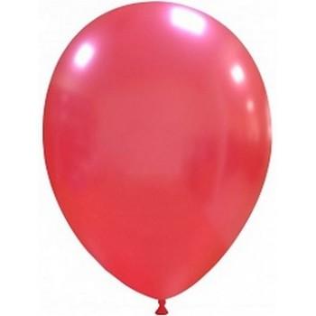 Palloncino in Lattice Rotondo 30 cm. Rosso Metallizzato