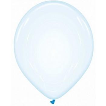 Palloncino in Lattice Rotondo Bolle di Sapone 30 cm. Azzurro