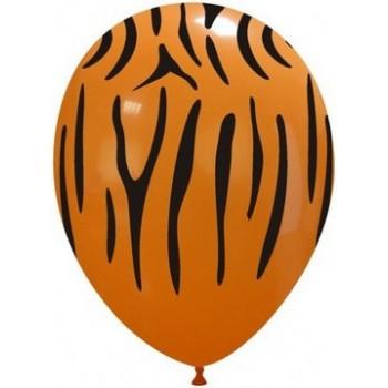 Palloncino in Lattice Rotondo 30 cm. Stampa Tigre