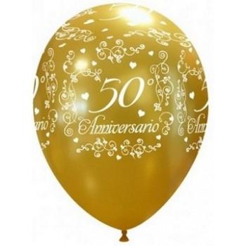 Palloncino in Lattice Rotondo 30 cm. Stampa Anniversario 50°